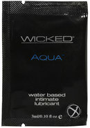 Wicked Aqua Water Based Lubricant Fragrance Free .10oz (144...