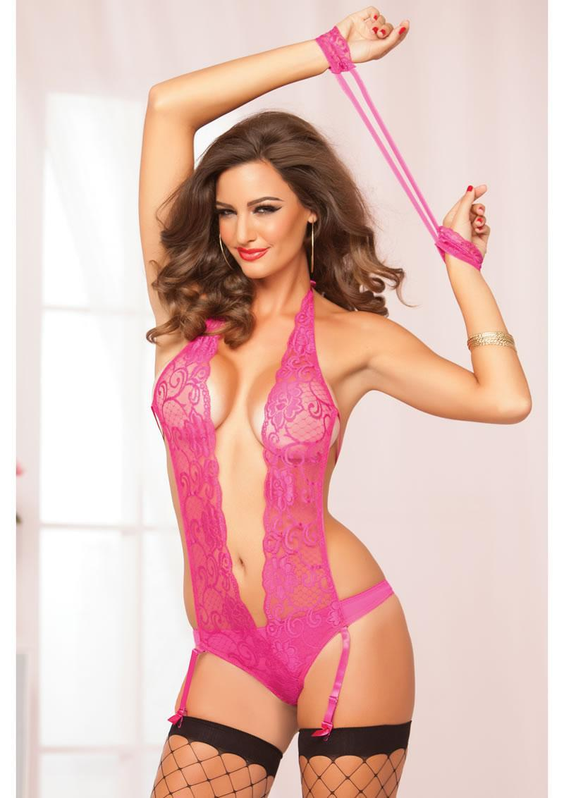 Cruising Teddy Set-pink-os